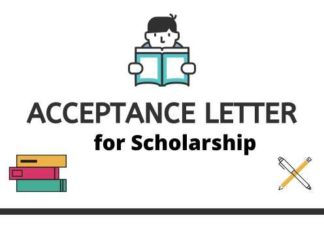 Acceptance Letter from Professors for Scholarship