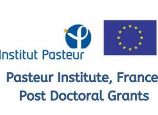 Pasteur Institute France Post Doctoral Grants