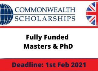 Commonwealth Scholarship in UK