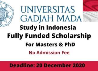 University of Gadjah Mada Scholarship Indonesia