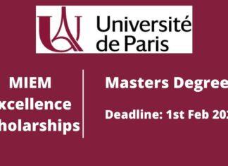 Scholarships at University of Paris