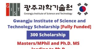 Gwangju Institute of Science and Technology Scholarship