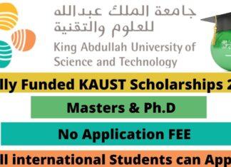 Fully Funded KAUST Scholarships